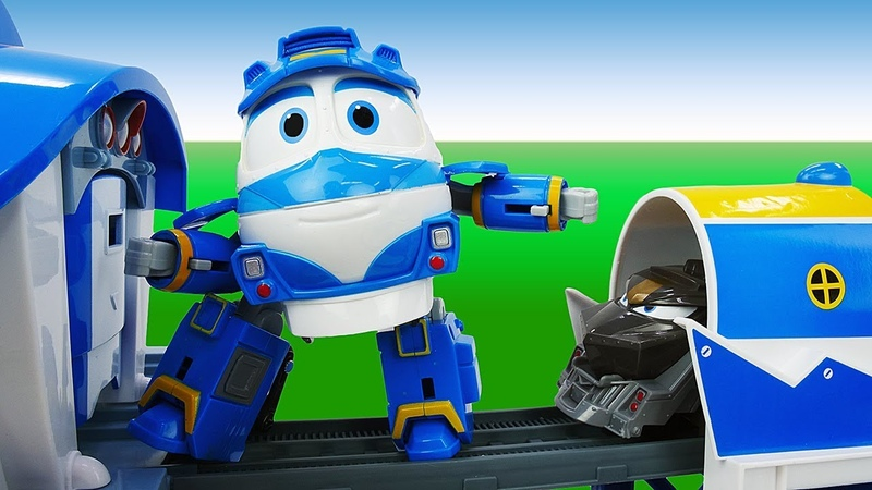 Spielzeug Video für Kinder auf Deutsch. Die Robot Trains: Kay und Duke. Die fliegende Plattform
