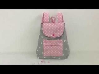 Coudre un petit sac  dos pour petite fille 3/4 ans Tuto Couture Madalena