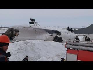 На Ямале упал вертолет Ми-26 (момент падения)