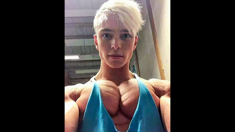 Teen flexible handsome bodybuilder HAMPUS BOTVID workout with POSING