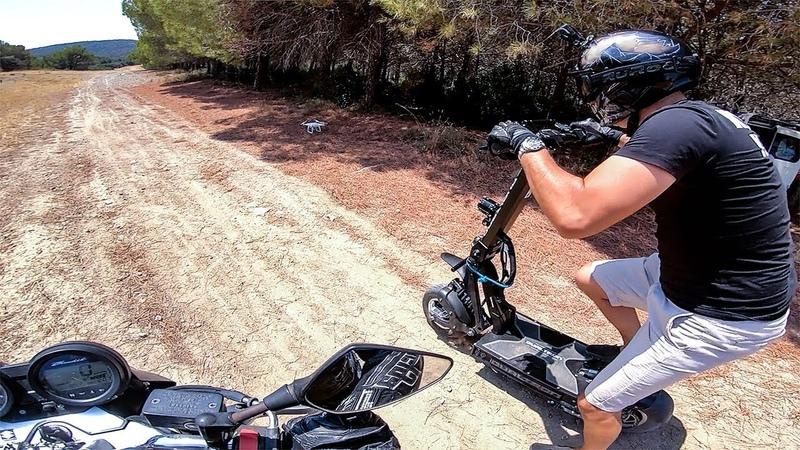 DUALTRON X VS MOTO / BATTLE OFFROAD / Trottinette électrique