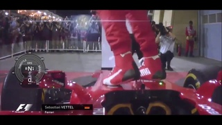 F1 2017 Bahrain GP   Sebastian Vettel's mechanics' chant for his car Gina