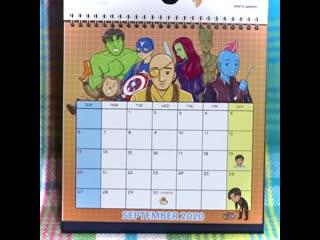 Running man calendar 2020 by shandyclaws.