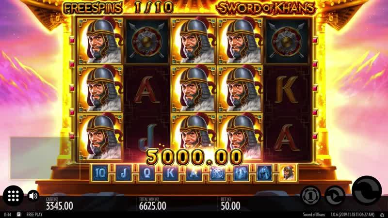 Онлайн слот Sword of Khans от Thunderkick