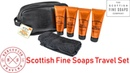 Scottish Fine Soaps Thistle Black Pepper Travel Grooming Set Executive Shaving