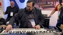Joey DeFrancesco with Peter Erskine at Viscount booth NAMM 2020
