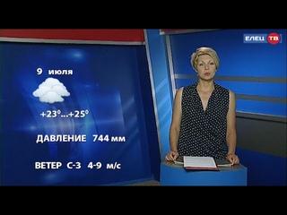 Прогноз погоды в Ельце на завтра 9 июля