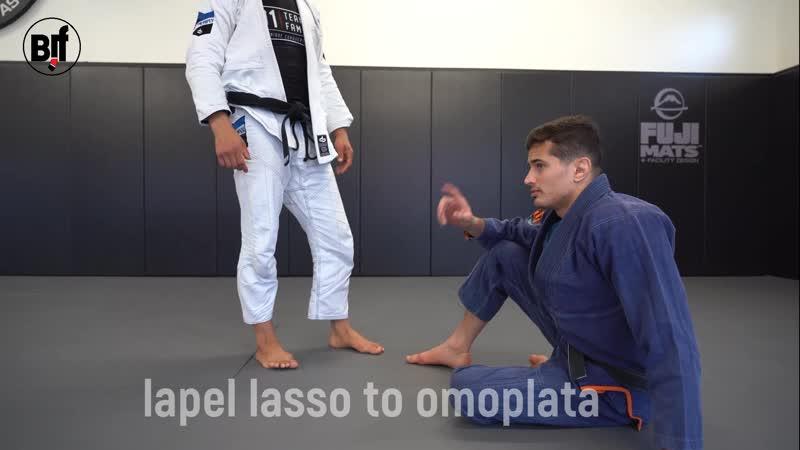 Caio Terra - lapel lasso to omoplata