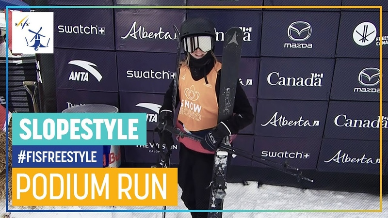 Megan Oldham Women's Slopestyle Calgary 3rd place FIS Freestyle Skiing