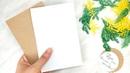 Открытка к 8 Марта с имитацией веточек мимозы из бумаги / открытка своими руками /DIY открытка