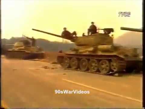 Serb T 34 near Dubrovnik 1991
