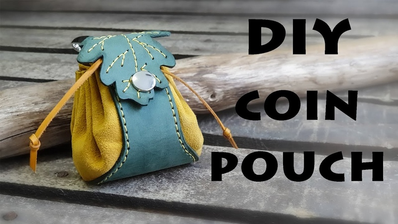 How to make a Leather Coin Pouch DIY Drawstring Pouch Dice Pouch Pattern