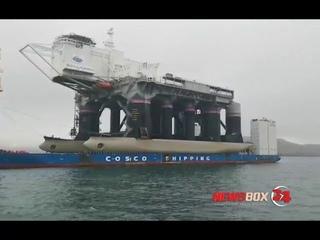 Ракетно-космический комплекс «Морской старт» прибыл в Славянку из США