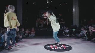 Hit The Floor Battle vol.6 hip-hop kids 1/4  Hello(win) vs Arina