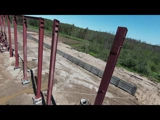 Коряжма. Строительство Ледового Дворца. Июль 2021 года.