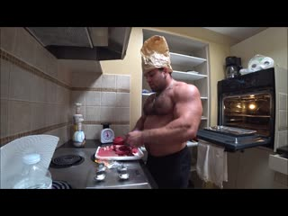 Hairy Chest Muscle Bear CHEF DACE shows you how to cook in the KITCHEN (How to Impress your wife)