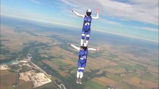 FAI World Parachuting Championship Mondial   Azure Freefly   Skydiving Routine   Round 2   Round 5