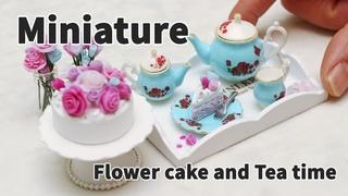 미니어쳐 케이크 만들기 - 플라워 케이크 그리고 티타임 Miniature Flower Cake & Tea Time