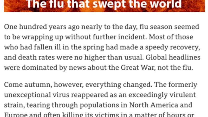 100 лет назад треть населения планеты переболела тяжелым гриппом Что общего у COVID 19 и испанки