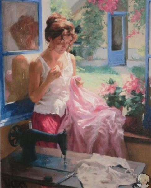 Море, женщина, солнце - художник Висенте Ромеро Редондо Висенте Ромеро Редондо (Vicente Romero Redondo) - выдающийся испанский художник, который уже много лет пишет дивные картины, воспевая