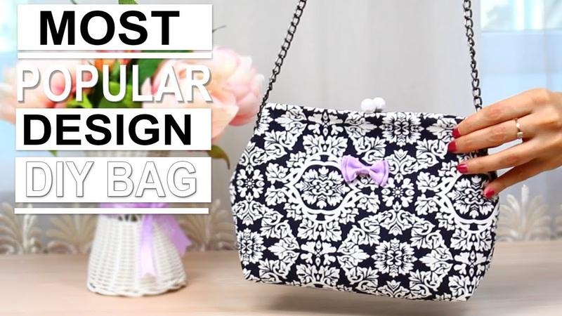 DIY Wire Frame Clasp Bag Popular Design ~ NO SPEND MONEY