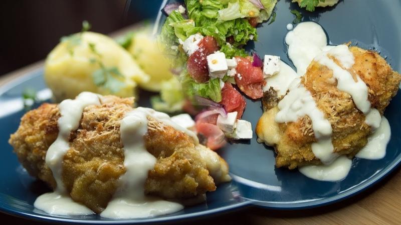 Pierś z kurczaka w sosie beszamelowym – łatwy nadziewany kurczak