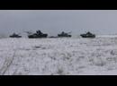 Действия танкового батальона мотострелковой бригады ЦВО на учении под Оренбургом