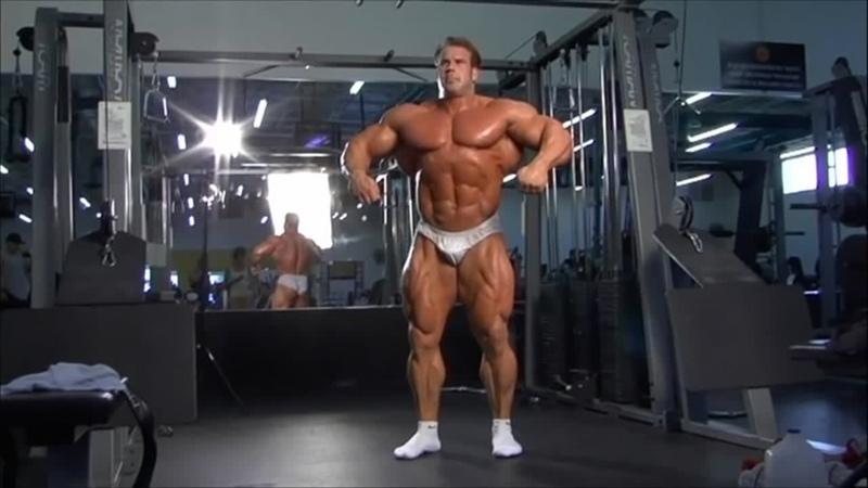 Jay Cutler Trains Shoulders Posing 2007