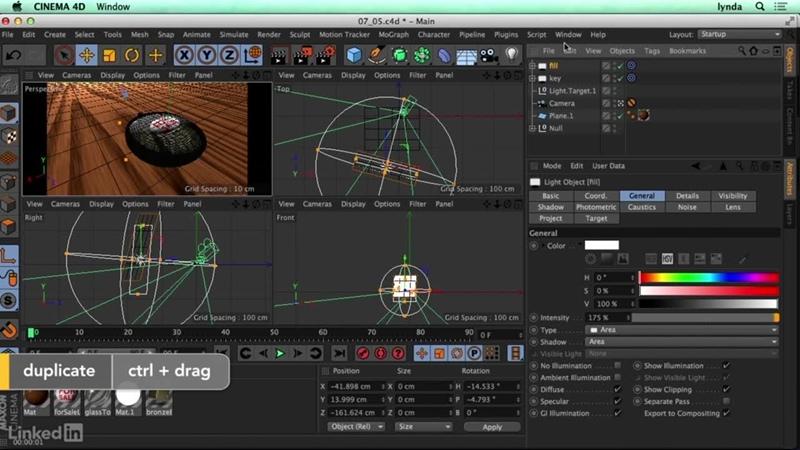 07_05. Creating a three-point Lighting setup