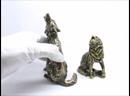 Бронзовая скульптура Волк воет бронза латунь литьё Россия настольная фигурка дикие животные 2447