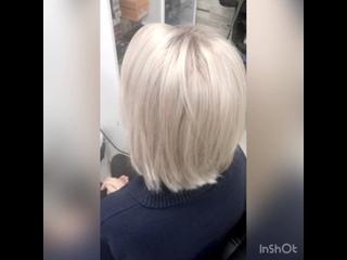 Из мелирования в растяжку блонд