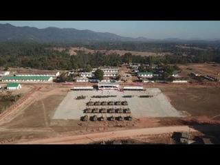 Открытие российско-лаосского учения танкистов «Ларос-2019»