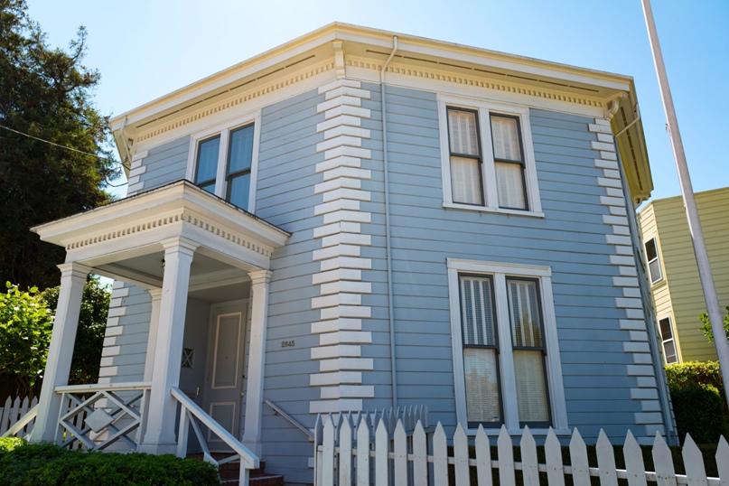 Октагон-хаус МакЭлроя, 1861 год, район Коровьей лощины в Сан-Франциско, Калифорния