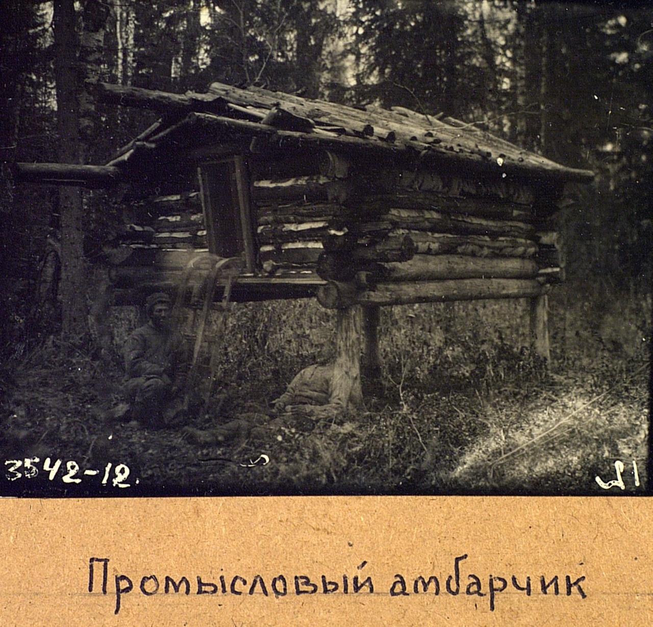 Промысловый амбарчик. Эвенки (тунгусы). Омская область, Тарский район. 1926. № 3542-12.