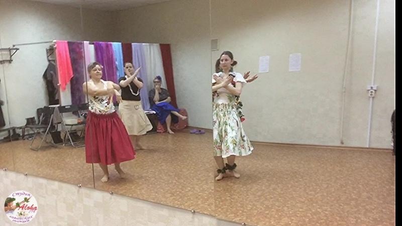 Хула My sweet pikake lei на семинаре гавайских танцев 11 02 2018 Питер