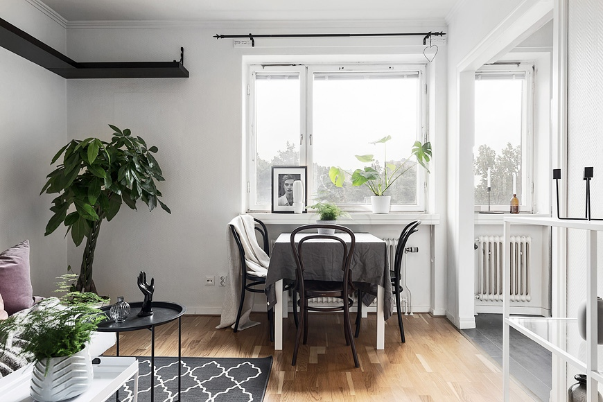 Маленькая скандинавская квартира-студия 22,5 м.