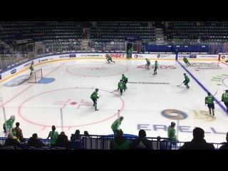 Разминка хоккеистов КХЛ