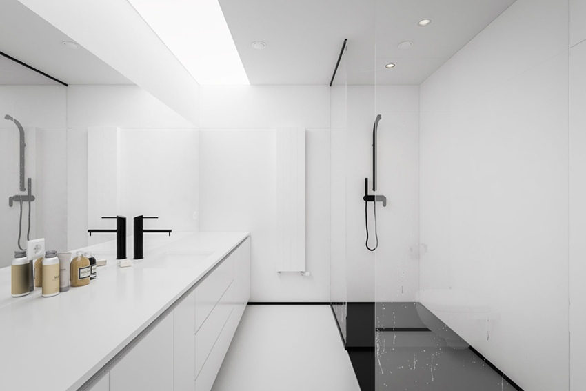 Черно-белый минимализм: проект квартиры 51 м.
