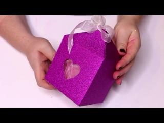ПОДАРОЧНАЯ КОРОБОЧКА  из бумажного пакета - DIY Easy Gift