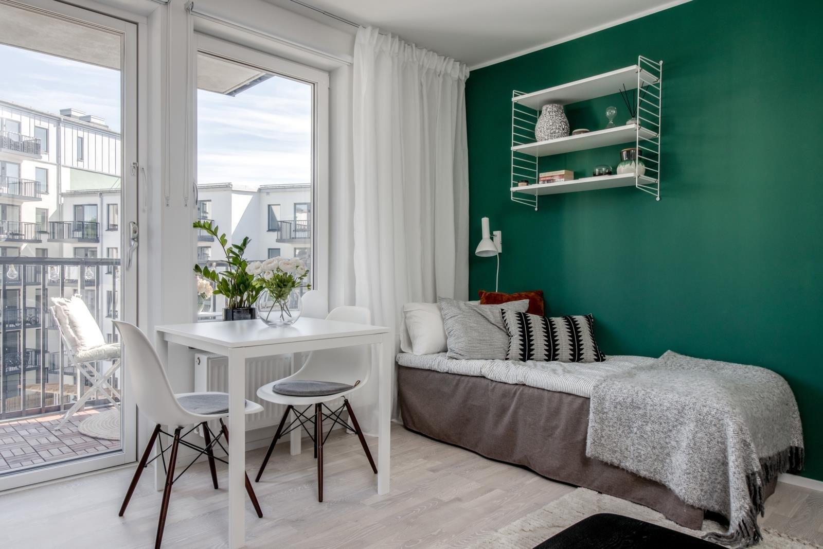Интерьер шведской квартиры-студии около 26 кв.