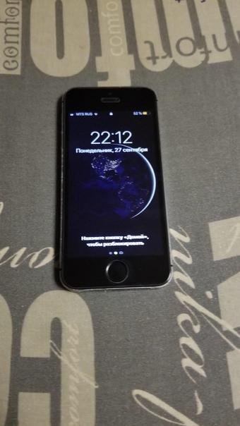 iPhone 5s 32 gb работает хорошо ( кроме отпечатка ...