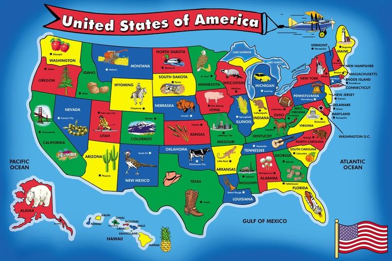 Происхождение названий американских штатов: