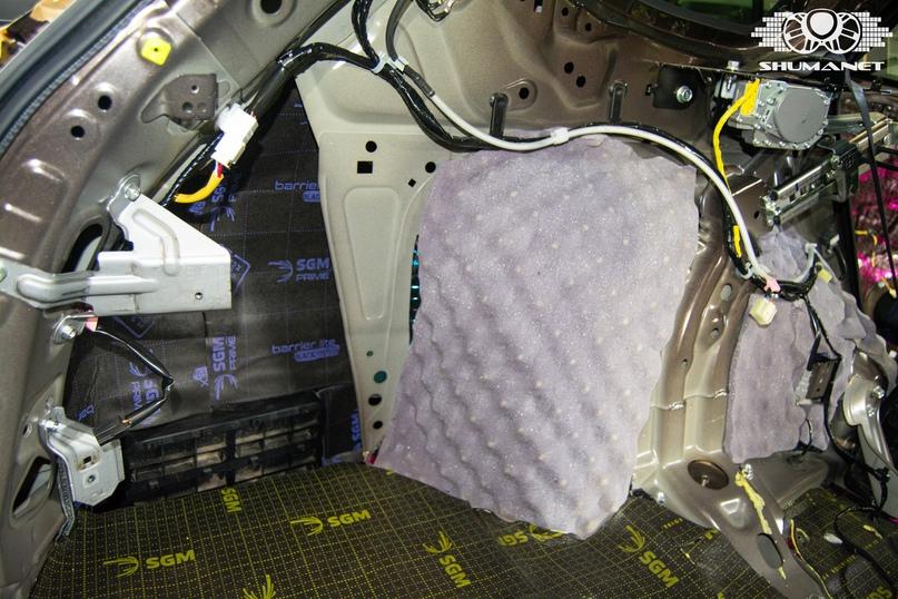 Комплексная шумоизоляция салона Subaru Outback., изображение №29