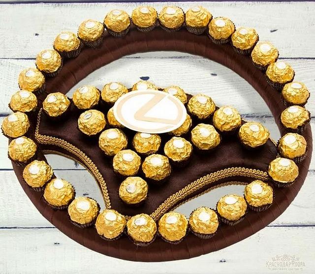 как сделать машину из конфет своими руками пошагово,