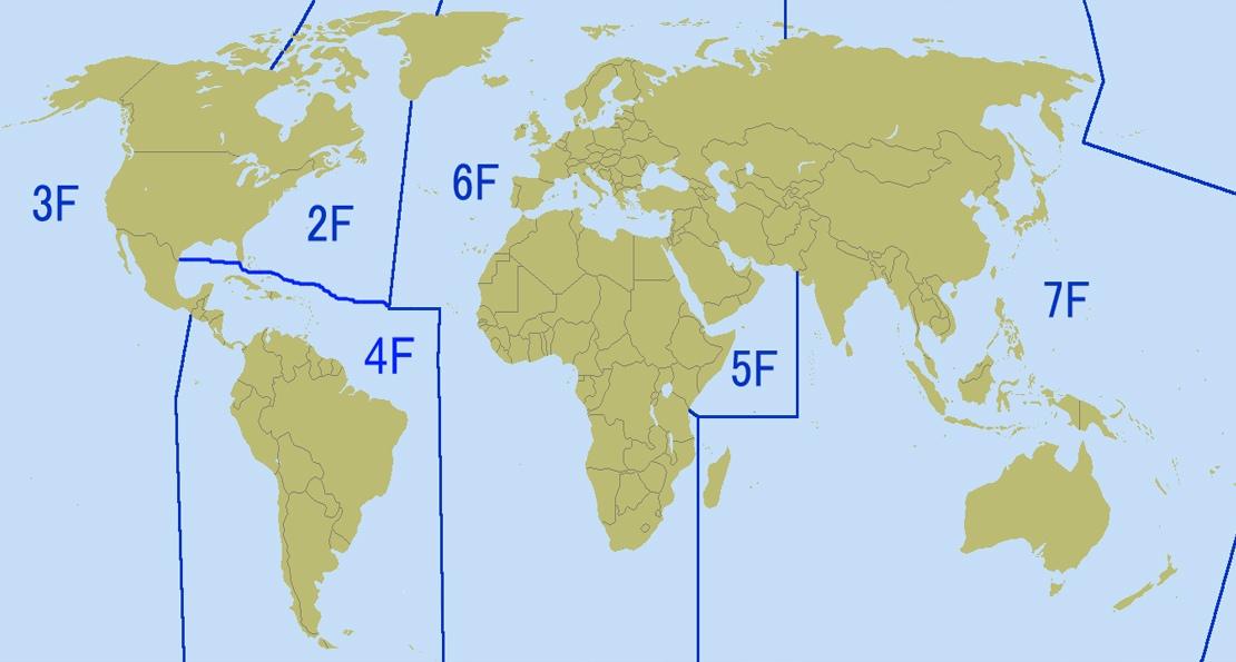 Зоны флотов США