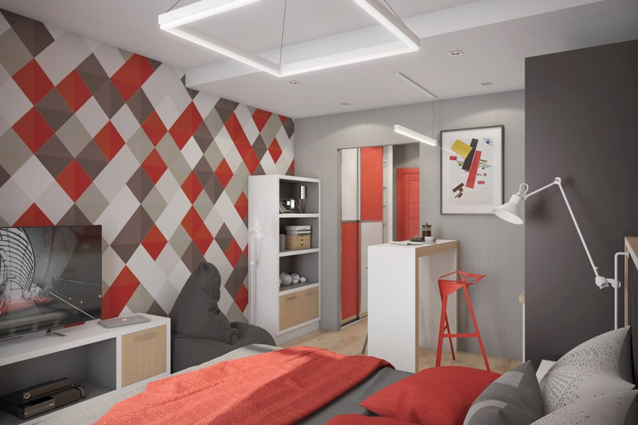 Яркий проект студии в инвест-отеле ПроМолодость в Санкт-Петербурге от компании-застройщика PLG.