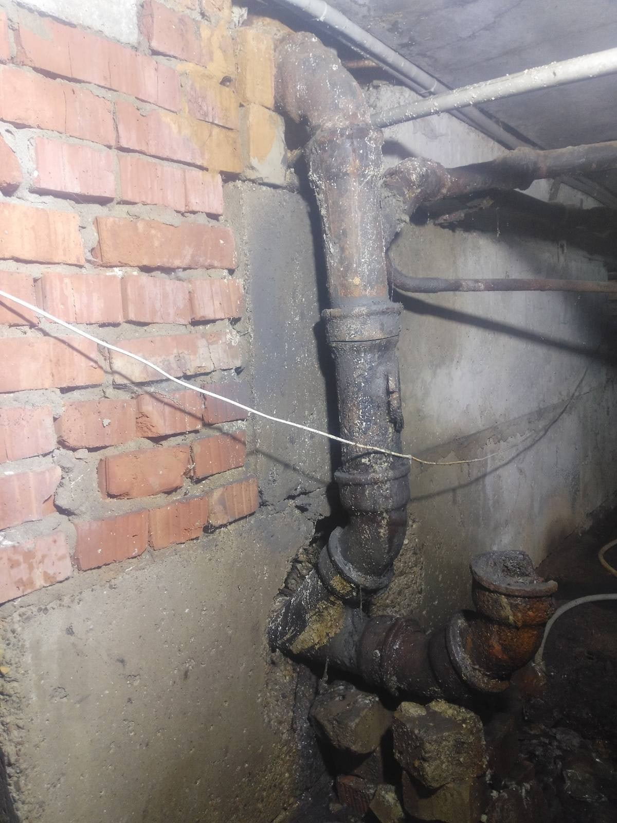 Северо-Садовая 2 смена части труб канализации в