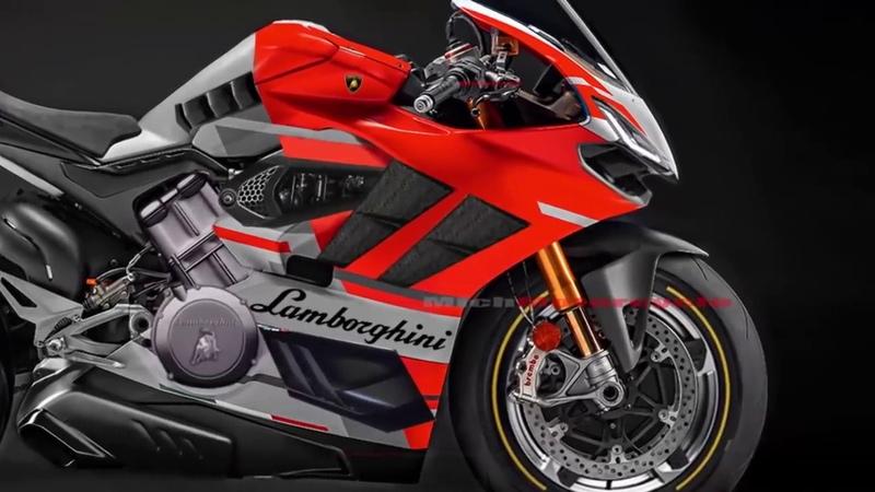 Detail Lamborghini Superbike 1000cc V4 Engine 220HP 2019 2020 Mich Motorcycle