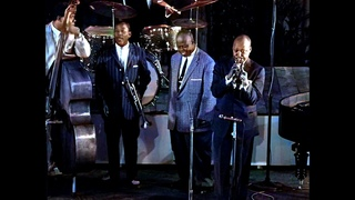 Jazz all stars, festival du Jazz de Cannes 1958 (colorized)