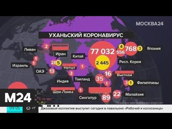 ВОЗ назвала число зараженных коронавирусом за пределами Китая Москва 24